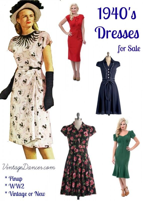 10+ Websites with 1940s Dresses for Sale | 1940s dresses, 1940s .