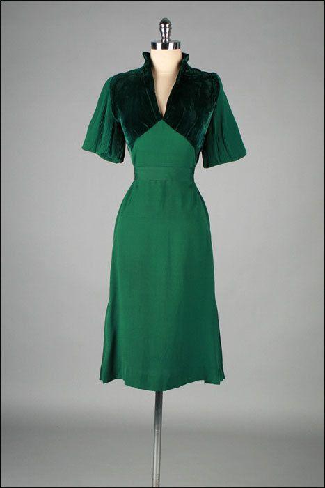 Dress 1940s Mill Street Vintage (OMG that dress!) | 1940s dresses .