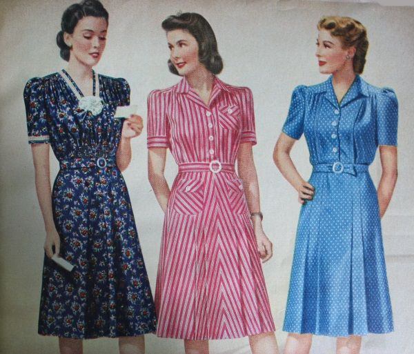 15 Classic Vintage 1940s Dress Styles | 1940s fashion dresses .
