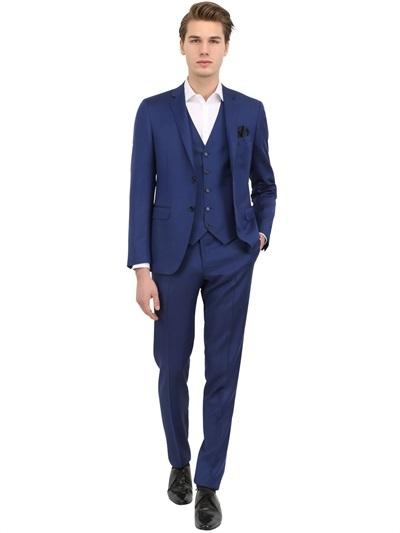 Canali Milano 73 Wool Mohair 3 Piece Suit, $1,911 | LUISAVIAROMA .