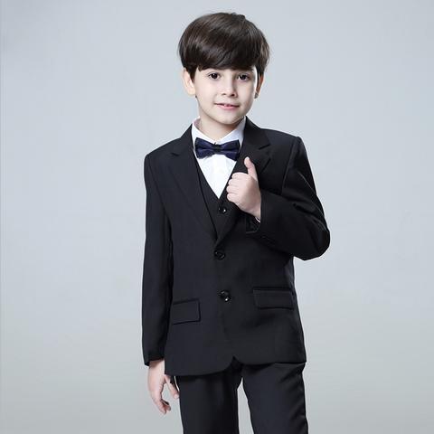 1) Black 3-piece Suit – Hip Kids Boutiq