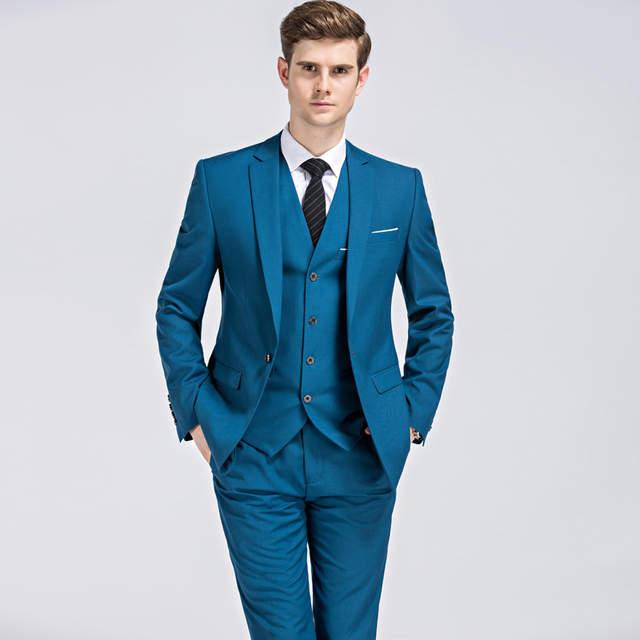 2018 Jacket Vest Pants Suits Men Classic Business Mens 3 Piece .