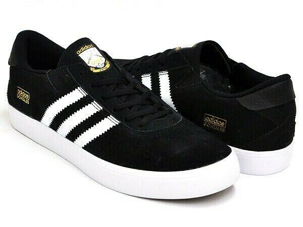 Adidas Skateboarding Gonz Pros Skate Shoes Black/White Q33324 .