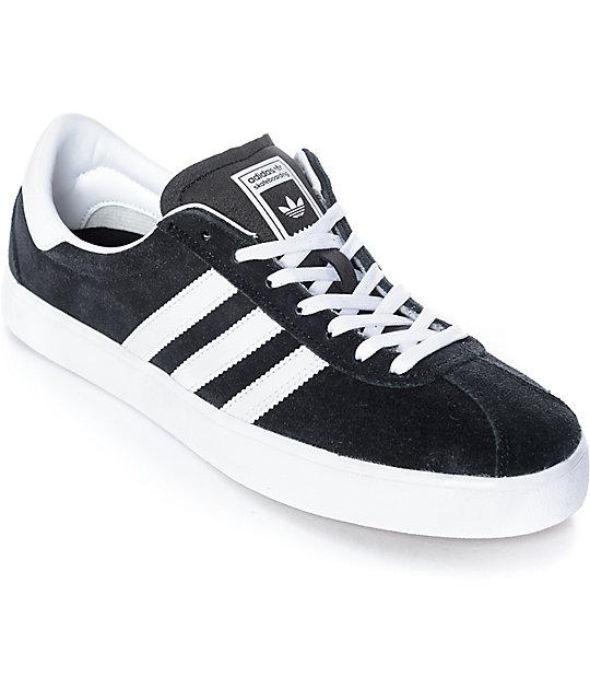 adidas Skate ADV Black, White & Gum Shoes   Zumi