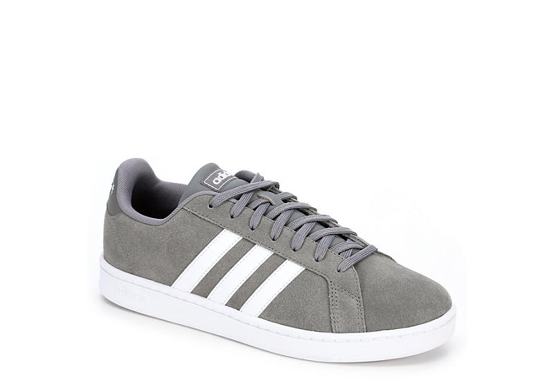 Grey Adidas Mens Grand Court | Athletic | Rack Room Sho