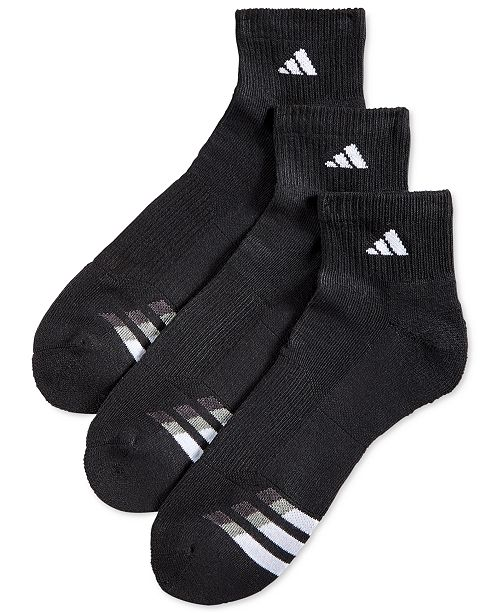 adidas Men's Cushioned Performance 3-Pack Quarter Socks .