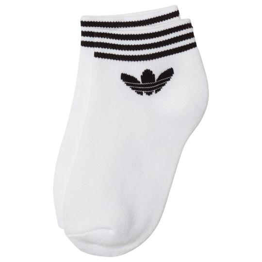 adidas Originals - White Logo Ankle Socks - Babyshop.c
