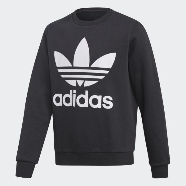 adidas Fleece Crew Sweatshirt - Black | adidas Cana