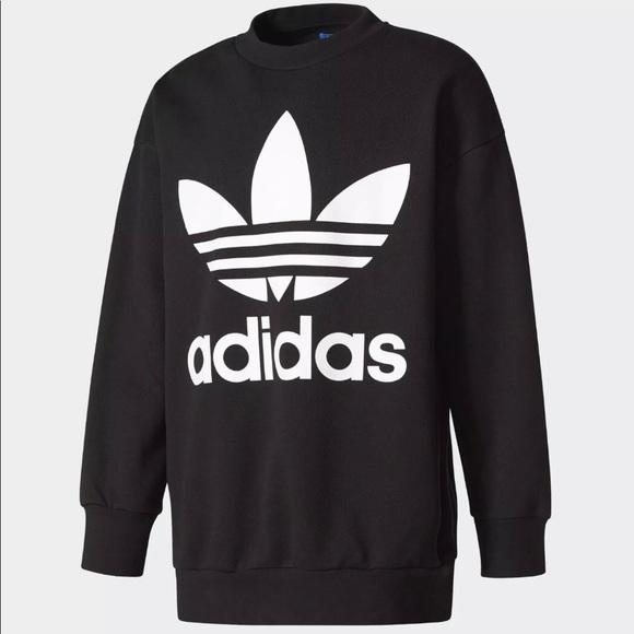 adidas Sweaters | Originals Sweater Big Logo Mens Trefoil | Poshma
