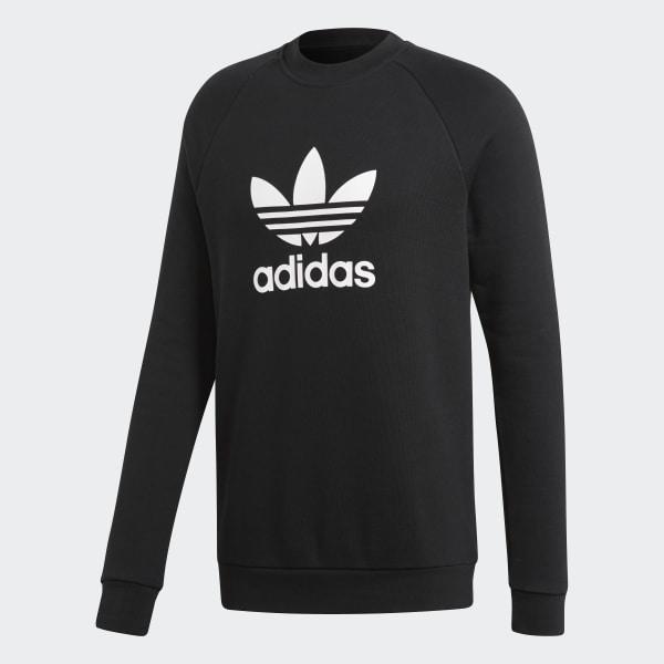 adidas Trefoil Warm-Up Crew Sweatshirt - Black | adidas