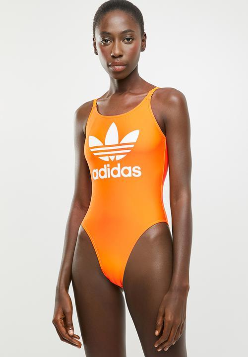 Trefoil swimwear - orange adidas Originals One Piece | Superbalist.c