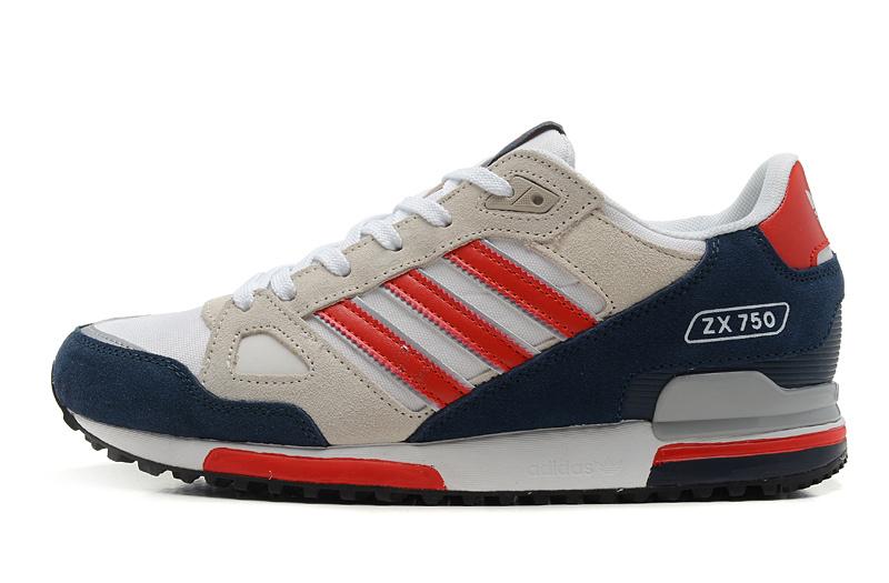 Men adidas originals zx 750 running shoes apricot/blue/red,adidas .
