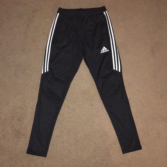 Women's Black White adidas Tiro 17 Training Pants Size M New Tag .