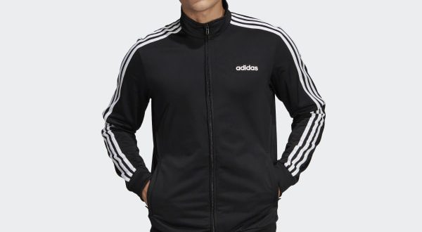 adidas Essentials 3-Stripes Tricot Track Jacket - Black | adidas