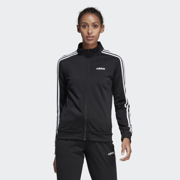 adidas Essentials Tricot Track Jacket - Black | adidas