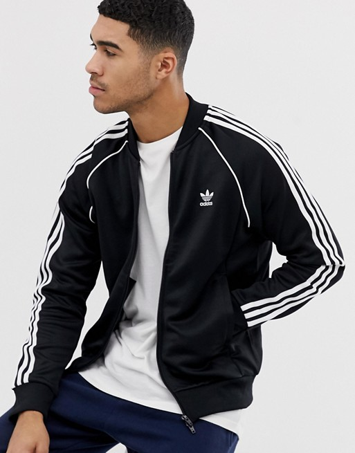 adidas Originals Authentic Superstar Track Jacket In Black | AS