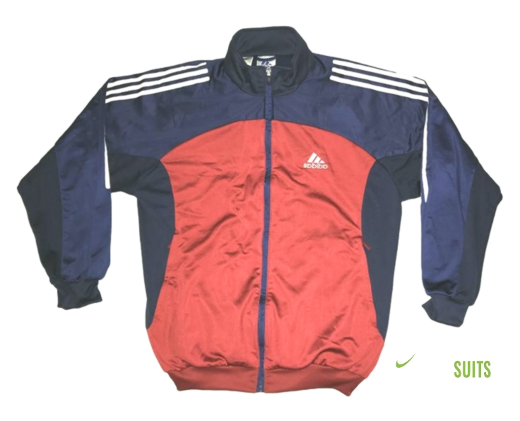 Vintage 90s Adidas Tracksuit top jacket Color Block Blue/Red/White .