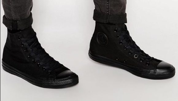 Converse Shoes | Mens All Black All Star High Top | Poshma