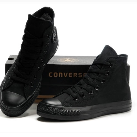Converse Shoes | All Black High Top | Poshma