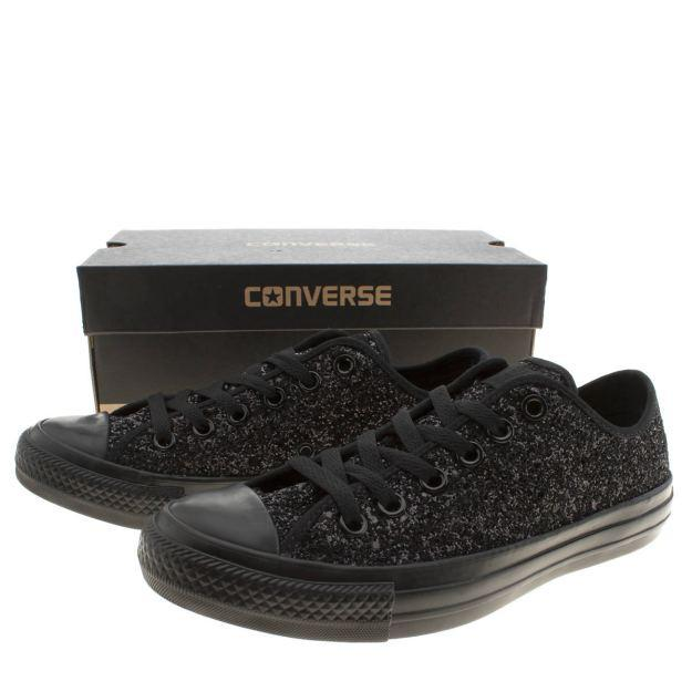 Wedding Sparkly Black Glitter Converse All Stars Low Top Wedding .