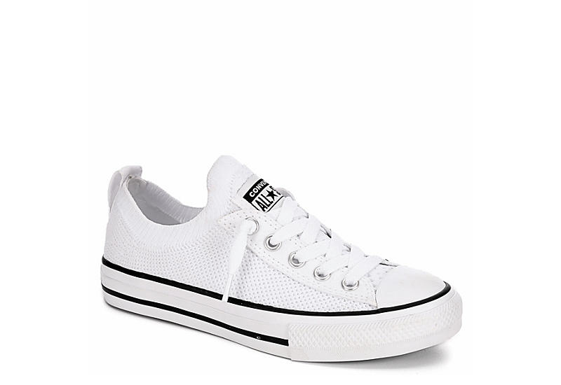White Converse Girls Chuck Taylor All Star Kids Knit | Athletic .