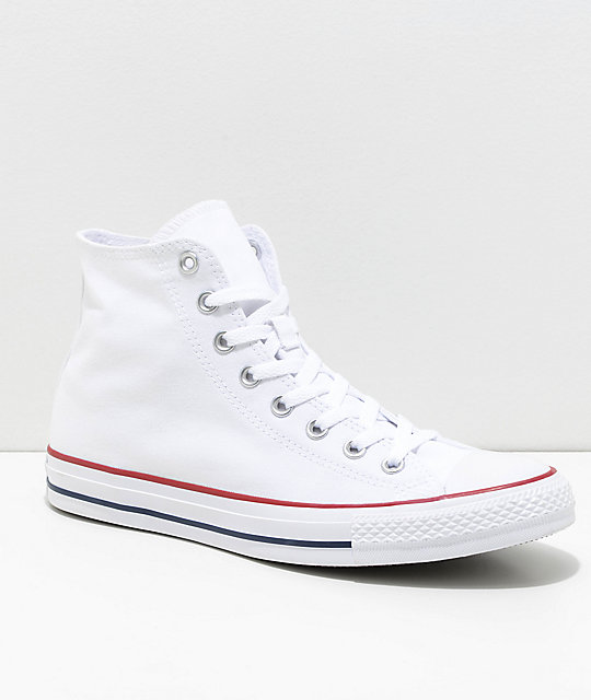 Converse Chuck Taylor All Star White High Top Shoes | Zumi