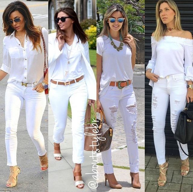 Woman All White Outfits #woman #fashionoutfits #whiteoutfit .