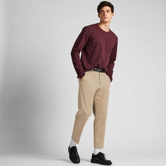 MEN EZY Relaxed Fit Ankle Pants - Ankle Length Pants - BOTTOMS .