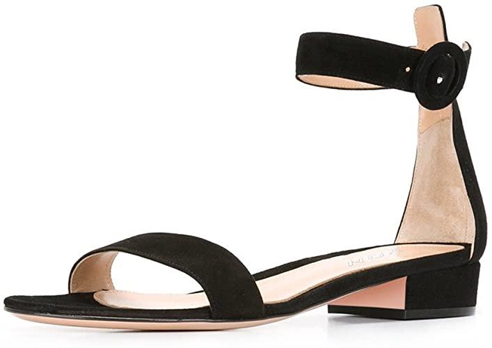 Amazon.com   YDN Women Low Heeled Ankle Strap Sandals Open Toe .