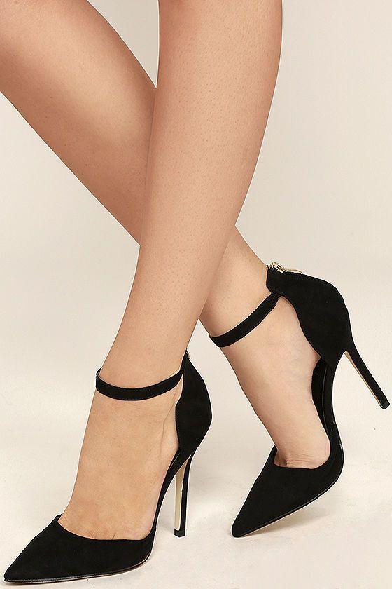 46 Ankle Straps Heels That Look Fantastic   Ankle strap heels .