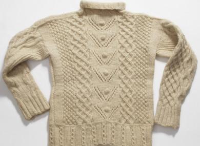 An Irish Aran Sweater Displayed in the Museum of Modern Art in New .