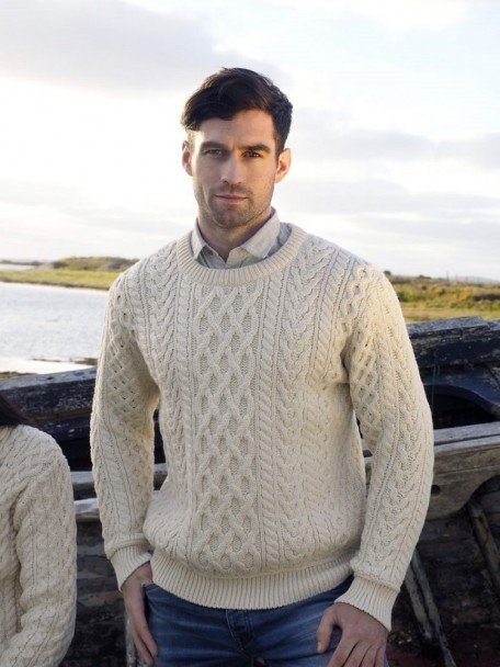 Heavyweight Irish Aran Sweater | The Sweater Shop, Irela