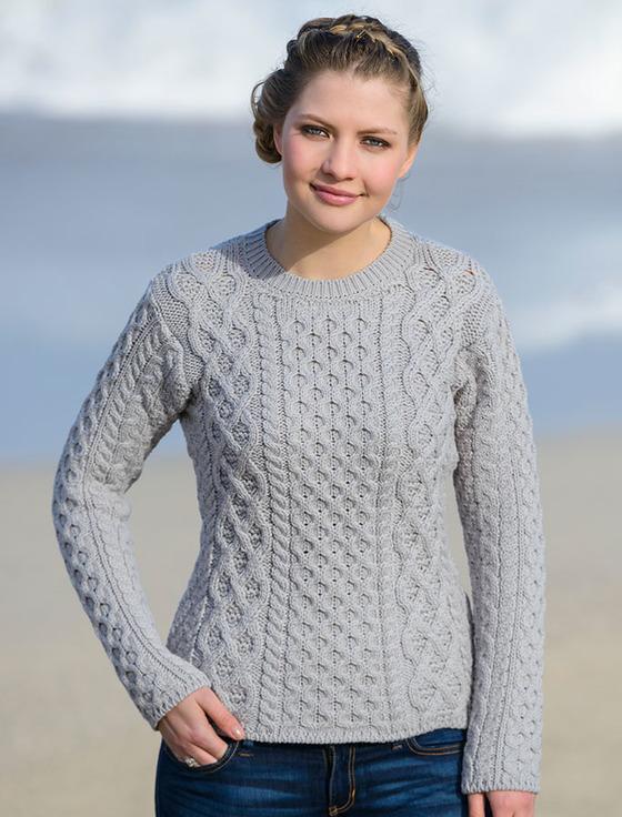 Women's Fisherman Sweater | Aran Sweater Mark
