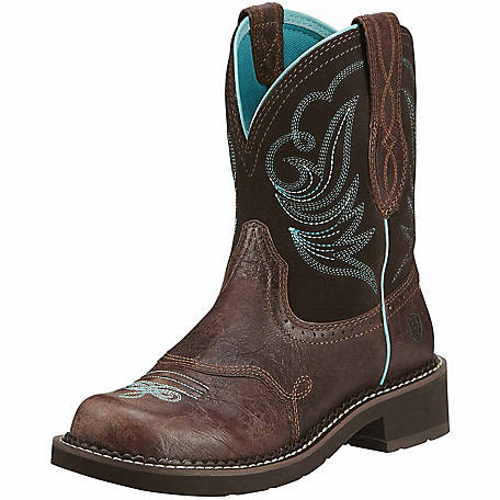 Ariat Women's 8 in. Brown and Turquoise Western Boot at Tractor .
