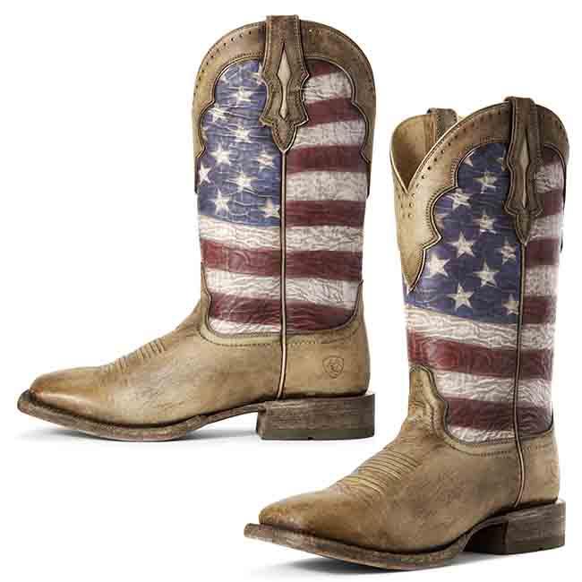 Ariat Ranchero Flag Men's Western Boo