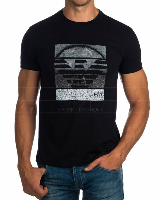 EA7 Emporio Armani Black Mens T Shirts - YPTD   Men shirt style .