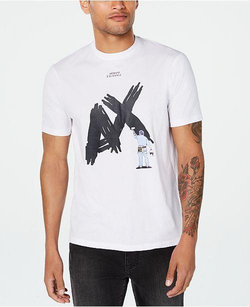 A X Armani Exchange Men's Textured Paint Logo T-Shirt & Reviews .