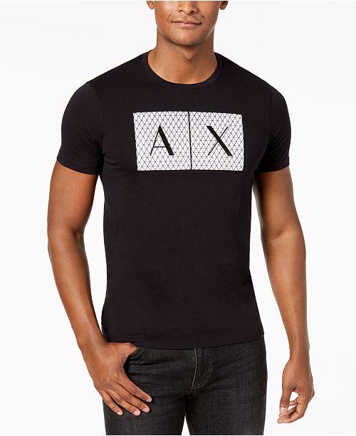 A X Armani Exchange Men's Foundation Triangulation T-Shirt .
