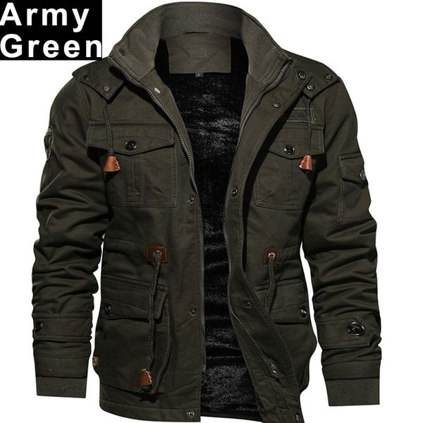 Winter Overcoat Stylish Men Fashion Jacket Outerwear Outdoors Army .