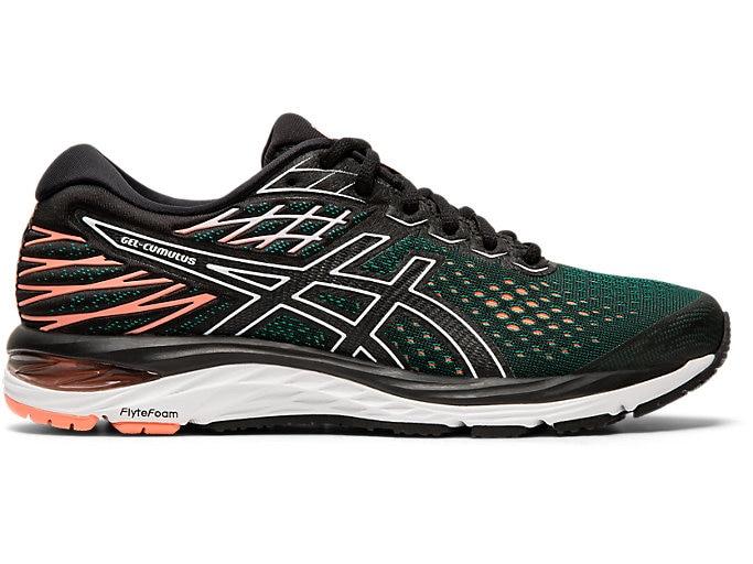Women's GEL-CUMULUS 21 | Black/ Sun Coral | Running Shoes | ASI
