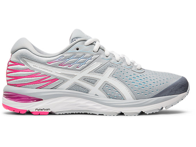 Women's GEL-CUMULUS 21 | Piedmont Grey/ White | Running Shoes | ASI