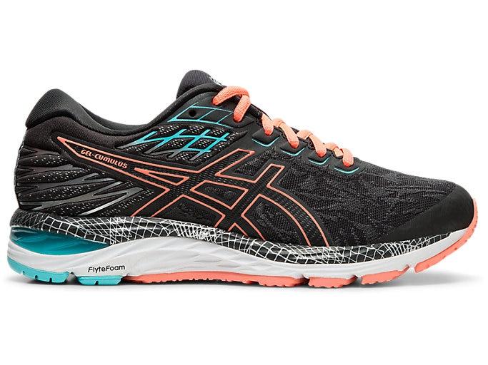 Women's GEL-CUMULUS™ 21 LS | GRAPHITE GREY/SUN CORAL | Running .