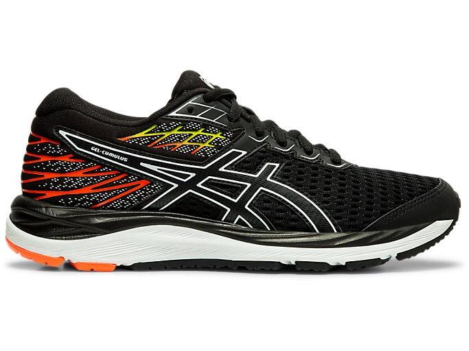 Unisex GEL-CUMULUS™ 21 GS   BLACK/WHITE   Kid's Road Running Shoes .