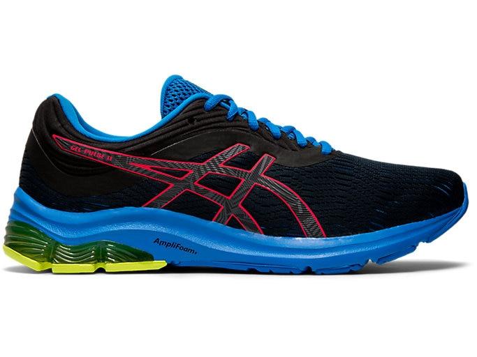 Men's GEL-PULSE 11 LITE-SHOW | Black/Laser Pink | Running Shoes .
