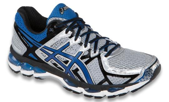 Asics Gel Kayano 21 Men's Running Shoes, Lightning / Royal / Bla