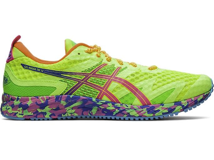Men's GEL-NOOSA TRI™ 12 | SAFETY YELLOW/HOT PINK | Running Shoes .
