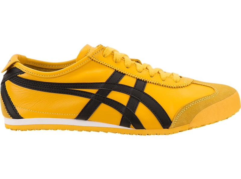 Asics-Onitsuka Tiger Men's Running Shoes MEXICO 66 Yellow/Black .