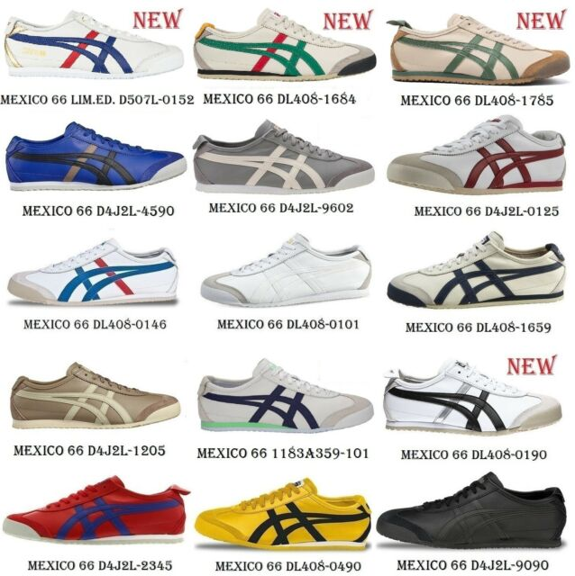 Asics Onitsuka Tiger Mexico 66 Dl408-1684 Birch Green Leather .