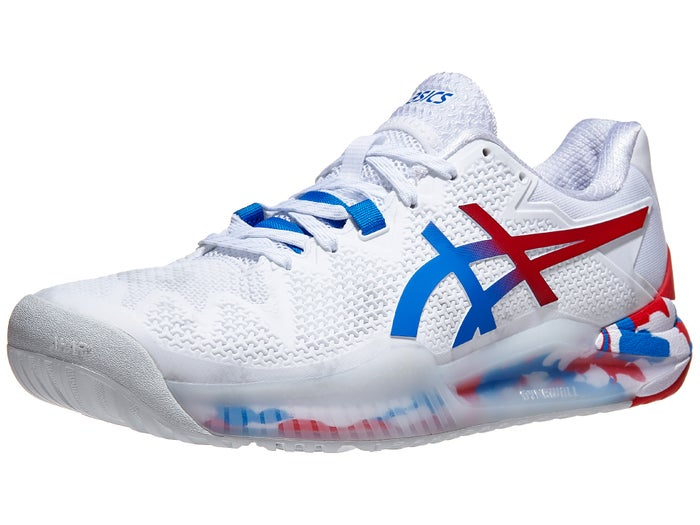 Asics Gel Resolution 8 White/Blue Men's Sho