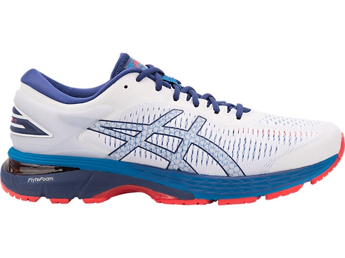 Men's GEL-Kayano 25 | White/Blue Print | Running Shoes | ASI